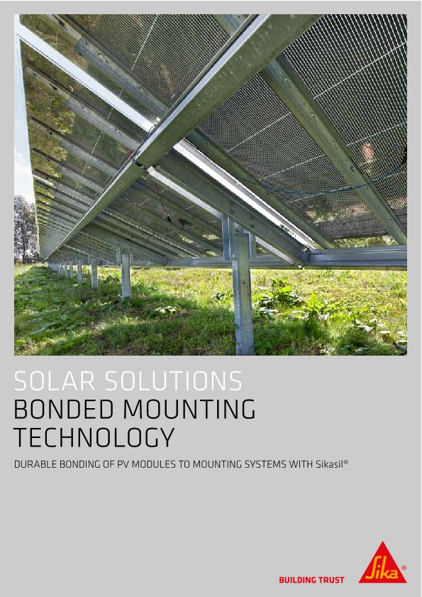 Solar Solutions - Bonded Mounting Technology